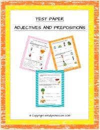 cbse english grade 1 test paper
