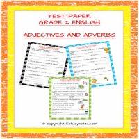 cbse english grade 2 test paper