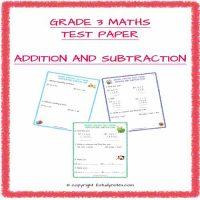 cbse maths grade 3 test paper