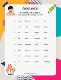 CBSE English Grade 1 Worksheets