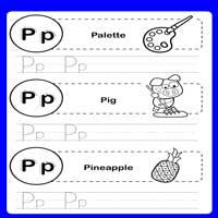 LKG Alphabet Tracing Worksheets