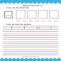 Beginner Alphabet Tracing Worksheets